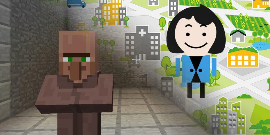 Två figurer ur ett tv-spel