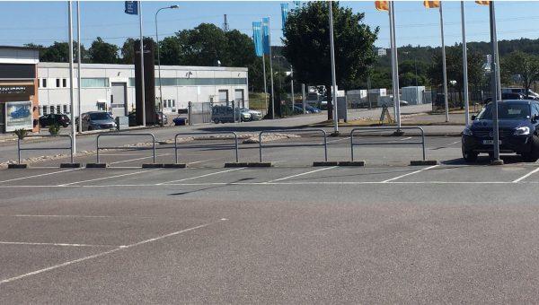 En tom parkeringsplats