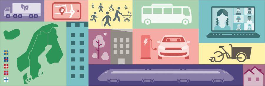 Illustrationer av olika transportmedel